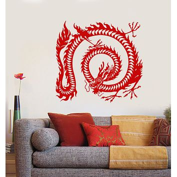 Vinyl Wall Decal Asian Symbol Chinese Dragon Animal Stickers (2136ig)