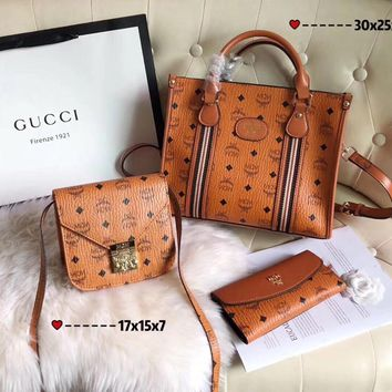 MCM Women's Leather Shoulder Bag Gucci Tote LV Handbag LV Shopping Bag Gucci Messenger Bags