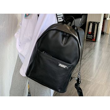 PUMA sells casual ladies' backpacks fashionable, solid-colored backpacks Black