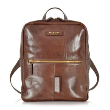 The Bridge Designer Backpacks Passpartout Marrone Leather Backpack