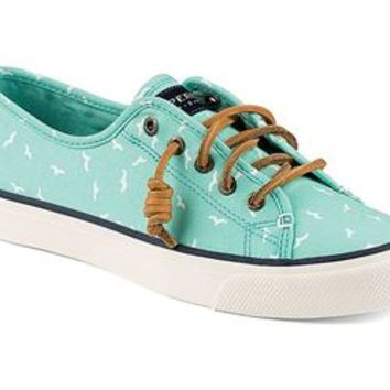 Sperry Top-Sider Womens Seacoast Print Sneaker in Mint Seagull STS91308