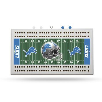 DETROIT LIONS FIELD CRIBBAGE BOARD
