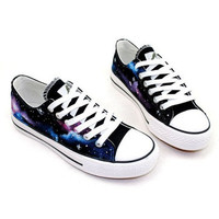 Fashion galaxy pattern Canvas shoes
