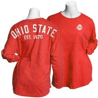 Ohio State Buckeyes Womens Gameday Shirt Red