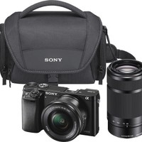Sony - Alpha a6000 Mirrorless Camera with 16-50mm and 55-210mm Lens Kit - Black