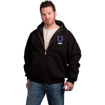 Indianapolis Colts Cumberland Full-Zip Quilt Lined Hooded Jacket