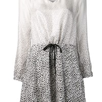 Band Of Outsiders leopard drawstring dress