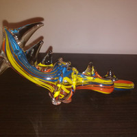 Extreme Colorized Glass Dragon Pipe