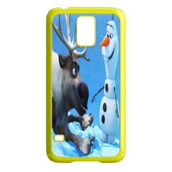 Sven and Olaf Funny Cartoon Samsung Galaxy S5 Case
