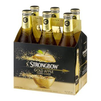 Strongbow Gold Apple Hard Cider, 6 pack, 11.2 fl oz - Walmart.com