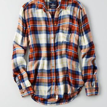 AEO Ahhhmazingly Soft Boyfriend Shirt , Brown
