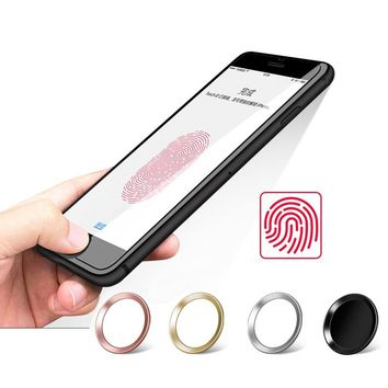 Touch ID Home Button Sticker Stickers for iPhone 7 8 6s 6 plus 5s 5 se 5c Fingerprint Unlock for iPad 2 3 4 air pro Decals free