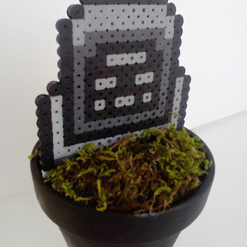 Halloween Tombstone Potted Sprite