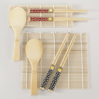 3-Piece Bamboo Sushi Sets, Set of 2 - World Market