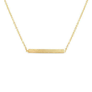 Gold Minimalist Bar Necklace