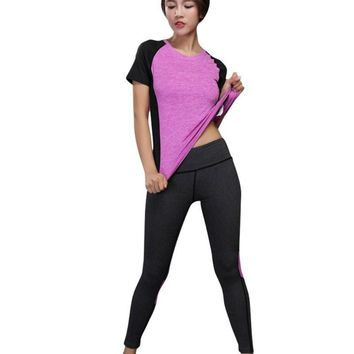 Two Tone Breathable Gym T-Shirt