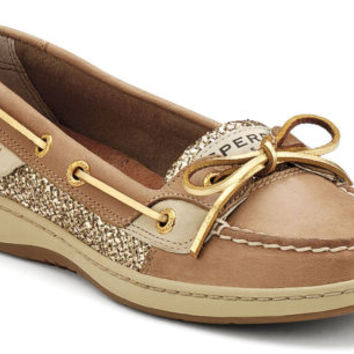 LADIES Sperry Topsider ANGELFISH LINEN/GOLD GLITTER ITEM 9101759