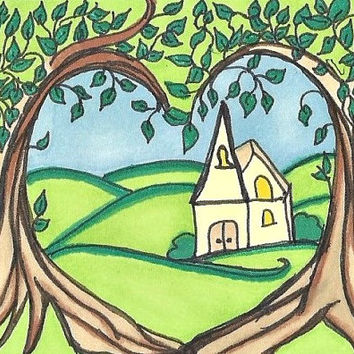 ACEO Little Church in the Valley SFA Original