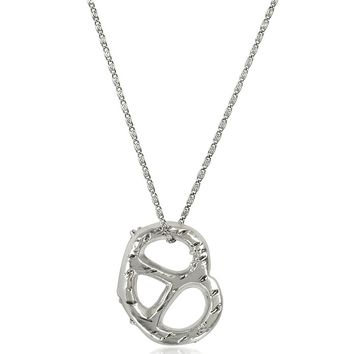 Tory Burch Pretzel Pendant Necklace