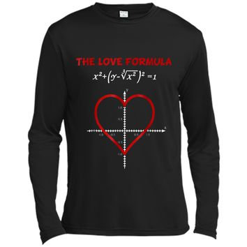 Funny The Love Formula Math for Valentine Day Long Sleeve Moisture Absorbing Shirt
