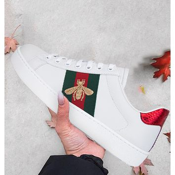 Gucci New Fashion Trend Sports Casual Running Women Men Shoes White