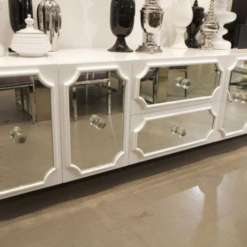 www.roomservicestore.com - Large Hollywood Credenza in High Gloss White Lacquer