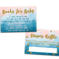 Gender Neutral Twinkle Twinkle Diaper Raffle Tickets or Books for Baby