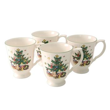 Nikko Happy Holidays 4-pc. Mug Set