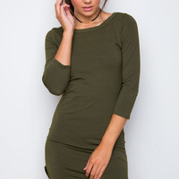 Sandy Basic Dress - Olive