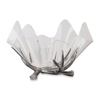Arthur Court Designs Antler Stand with 14-Inch Acrylic Bowl