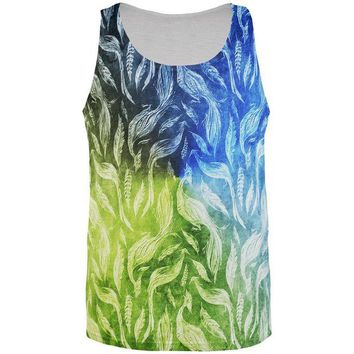 DCCKJY1 Peacocks And Feathers All Over Mens Tank Top