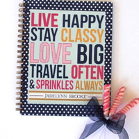 JADELYNN BROOK: Live Happy Spiral Notebook