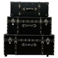 College Organization Made Easy - The Sorority College Dorm Room Trunk - Black University Footlocker