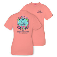 Simply Blessed Southern Raised Tee in Melon by Simply Southern