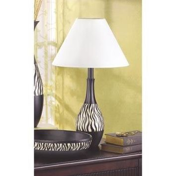 Zebra Stripe Jug Shaped Table Lamp