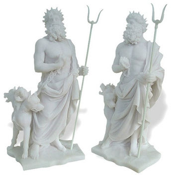 Hades / Pluto with Cerberus Sculpture - 5170