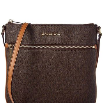 DCCKW7H MICHAEL Michael Kors Bedford Signature Flat Cross-Body Bag