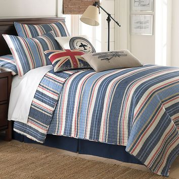Oliver Reversible Quilt Set (Blue)