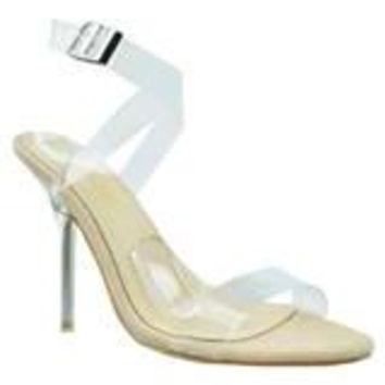 Clear Obsession Heels - Nude