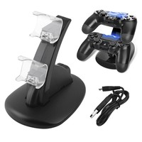 For ps4 Dual USB Charger Dock Stand for Sony PS4 Playstation 4 Controller LED Controller Charging Stand for ps4 Game Accessories