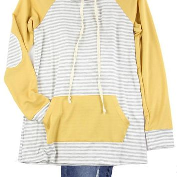 Kids Mustard Striped Pullover