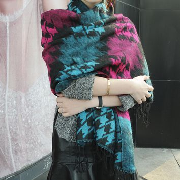 Ethnic Style Wool Winter Warm Scarf Shawl