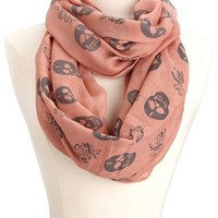 Skull & Rose Infinity Scarf: Charlotte Russe