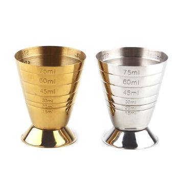 Stainless steel barware bar measure cup cocktail wine shaker measuring tools for wedding party bartender products supplies