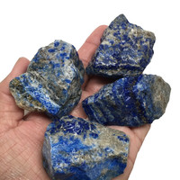 332.3Grams, 4pcs Natural Rough LAPIS LAZULI Crystal Mineral Afghanistan, RL198