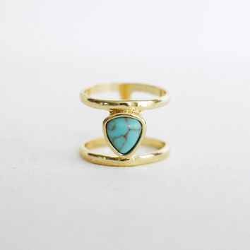 Turquoise Marble Ring