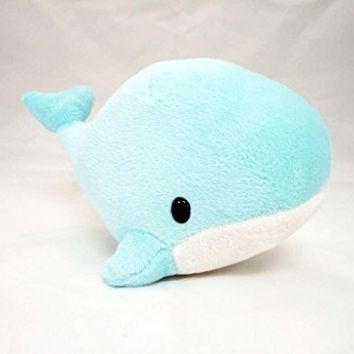 Light Blue White Whale Soft Plush with Suction Cup Cute Stuffed Toy