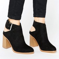 New Look Suedette Slingback Heeled Ankle Boot at asos.com