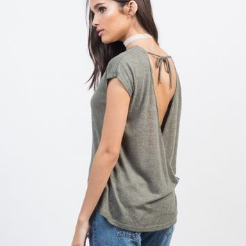 Drapey Open Back Top