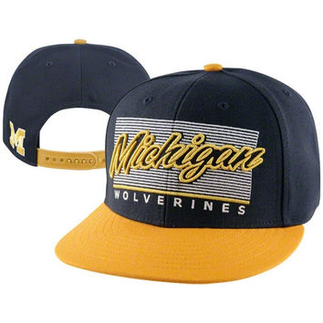 47 Brand Michigan Wolverines Kelvin Adjustable Snapback Flat Bri 6331dadab71